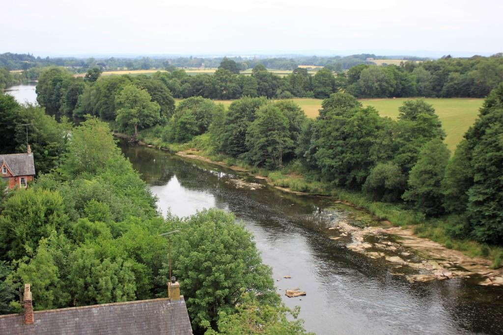 From Wetheral viaduct - looking north up the Eden