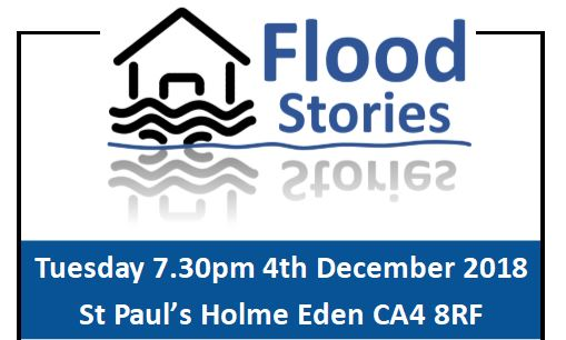 Flood Stories logo with date