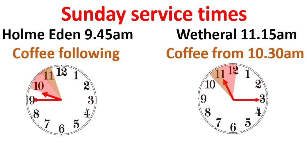 Sunday Service times March 201